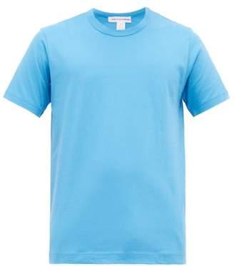 Comme des Garcons Crew Neck Cotton Jersey T Shirt - Mens - Blue Multi