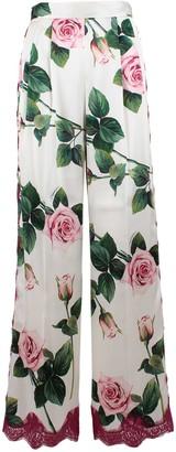 Dolce & Gabbana Silk Trousers