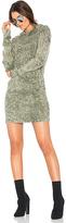 Cotton Citizen The Monaco Thermal Hoodie Mini Dress in Green. - size L (also in )