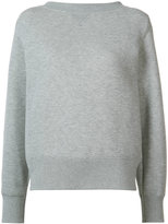 Sacai crew neck sweatshirt - women - Cotton/Nylon - 2