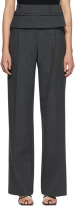 CHRISTOPHER ESBER Grey Wool Double Belted Trousers