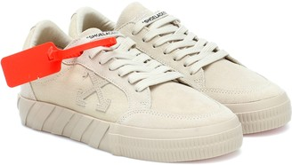 Off-White Low Vulcanized suede sneakers