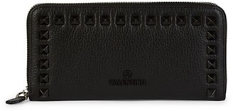 Valentino By Mario Valentino Grace Studded Leather Wallet