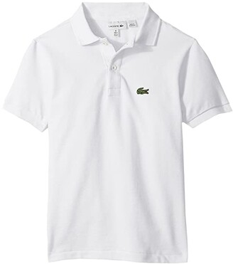 Lacoste Kids L1812 Short Sleeve Classic Pique Polo (Toddler/Little Kids/Big Kids) (White) Boy's Short Sleeve Pullover