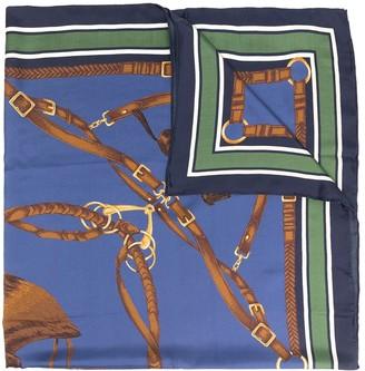 Polo Ralph Lauren Equestrian-print silk scarf