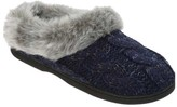 Dearfoams Women's Cable Knit Clog with Space-Dye
