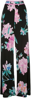Leonard Marley floral print trousers