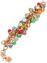 Betsey Johnson Gold-Tone Pavandeacute; and Multi-Stone Shaky Bracelet