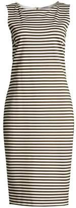 Max Mara Comica Striped Sleeveless Sheath Dress