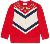 Gucci Necklace embroidered sweatshirt