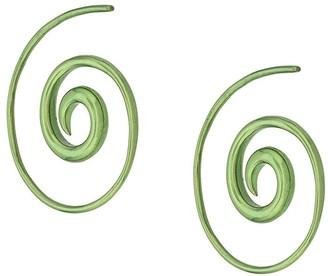 Noor Fares Swirl effect earrings