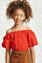 Forever 21 FOREVER 21+ Girls Puff Sleeve Top (Kids)