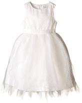 Us Angels Dot Netting Sleeveless Dress w/ Tiered Hanky Hem Skirt (Toddler)