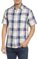Tommy Bahama Double Flora Plaid Sport Shirt