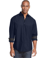 Alfani Men's Solid Long-Sleeve Iridescent Shirt