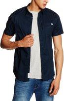 Jack and Jones Noel Slim Fit Short Sleeve Shirt Dark Navy - L (40-42in)