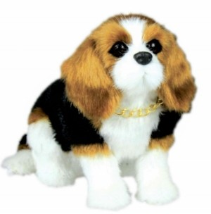 """The Queen's Treasures 18"""" Doll Pet Beagle Puppy Dog with Collar and Leash Accessory Sized for Use with Dolls"""