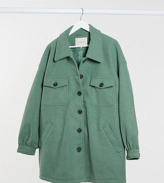 Only Curve shacket in green