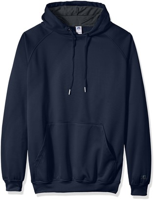 Russell Athletic Men's Big and Tall Po Poly Flece Hd W/Contrast Liner Logo On Sleeve