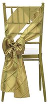 Remedios Pintuck Chair Sashes Bow Cover for Wedding Party Decoration Gold
