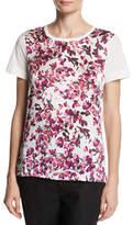 Escada Floral Petal-Print T-Shirt, Fantasy