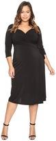 Kiyonna Sweetheart Knit Wrap Dress