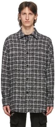 Faith Connexion Black Tweed Overshirt