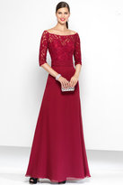 Alyce Paris Black Label - 5807 Long Dress In Merlot