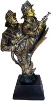 Blue Sky Ceramic Bravura Fireman Bust Sculpture, 13-Inch X 8-Inch X 4.5-Inch