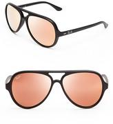 Ray-Ban Matte Mirrored Aviator Sunglasses
