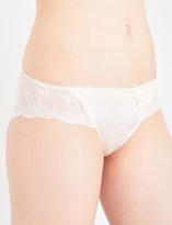 Wacoal Innocence stretch-silk and stretch-mesh bikini briefs