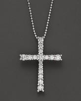 Bloomingdale's Diamond Cross Pendant in 14 Kt. White Gold, 1.0 ct. t.w.
