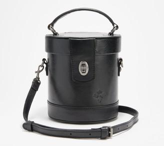 Patricia Nash Leather Top Handle Cylinder Bag - Noli