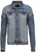 Superdry ROGUE PATCH TRUCKER Denim jacket stormy blue