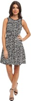 T-Bags LosAngeles Tbags Los Angeles Stretch Jacquard Fit & Flare Dress