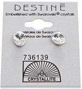 Crystallite Crystal Oval Rivoli Earrings