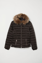 H&M Padded Hooded Jacket - Black