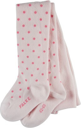 Falke Baby Little Dot Tights - Cotton Blend White (Off-White 2040) 6-12 months (Manufacturer size: 74-80) 1 Pair