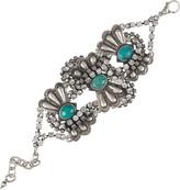 Turquoise and diamanté bracelet