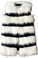 Little Marc Jacobs Faux Fur Sleeveless and Striped Gilet Girl's Sleeveless