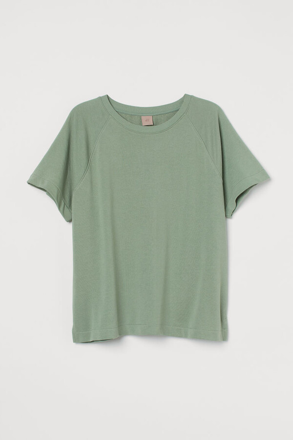 Thumbnail for your product : H&M H&M+ Short-sleeved Sweatshirt - Green
