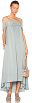 Self-Portrait Lace Shoulder Maxi Dress