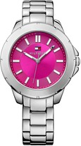Tommy Hilfiger Stainless Steel Watch With Pink Face
