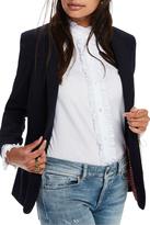 Scotch & Soda Basic Tailored Blazer With Printed Lining