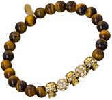Devora Libin Jewels Roxy Ii Skull Tigers Eye Bead Bracelet