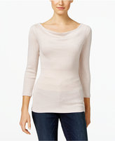 INC International Concepts Metallic Knit Top, Only at Macy's