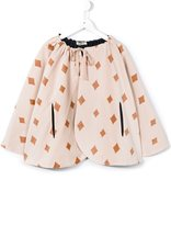 Bobo Choses diamond print reversible cape - kids - Silk/Cotton - 7 yrs
