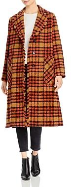Marella Dimma Plaid Tweed Coat