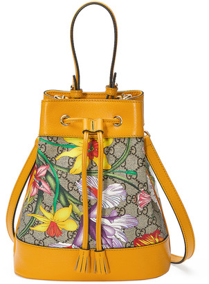 Gucci Ophidia Supreme GG Flora Shoulder Bag in Beige Ebony & Multicolor | FWRD