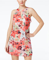 Amy Byer Juniors' Printed Ruffle-Back Halter Dress